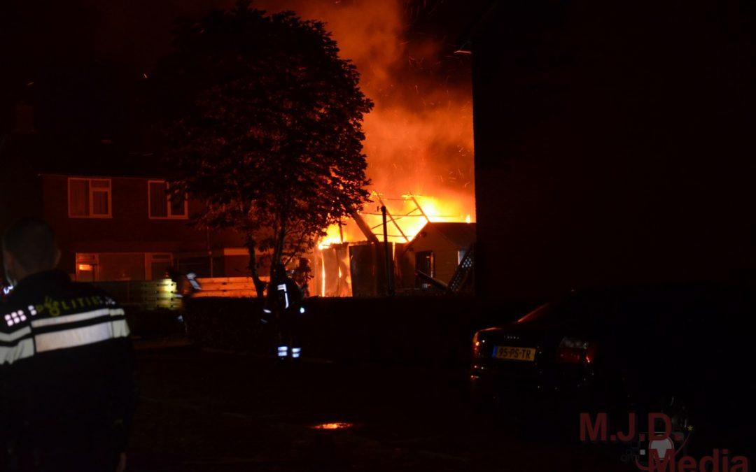 Garagebox uitgebrand in Stadskanaal