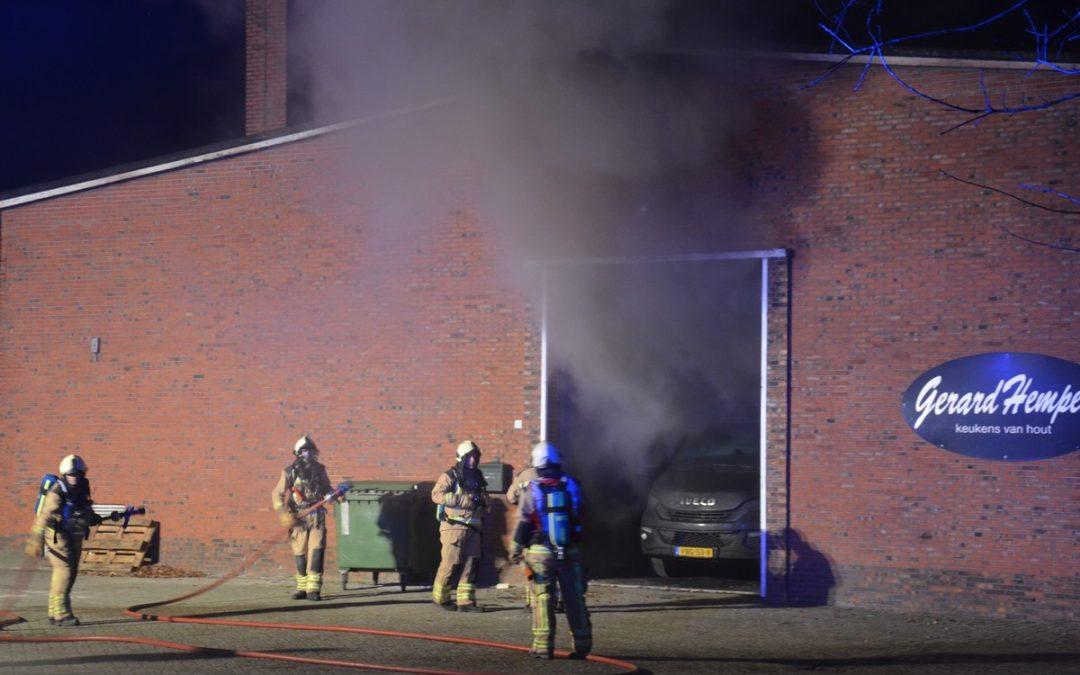 Brand bij keukenfabrikant Musselkanaal