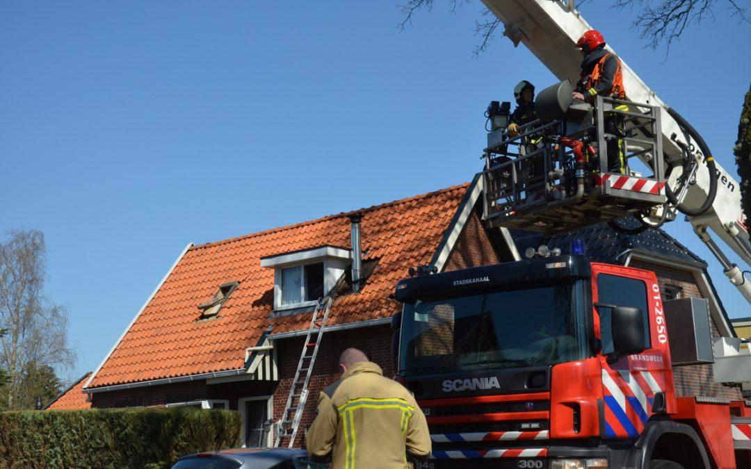 Dakbrand in Nieuw-Buinen
