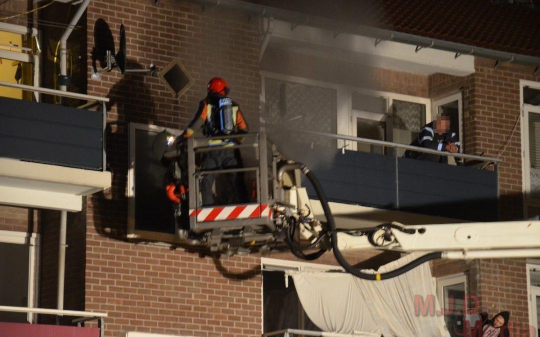 Veel rookontwikkeling bij flatbrand Stadskanaal