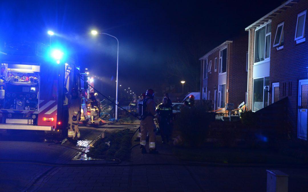 Brand bij aanbouw van woning
