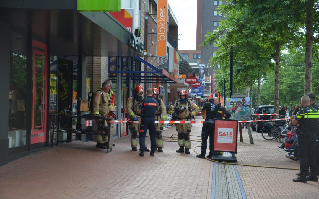 Winkels tijdelijk ontruimd om gaslekkage